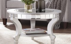 Silver Orchid Olivia Glam Mirrored Round Cocktail Tables