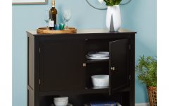 Simple Living Montego Black Wooden Buffets