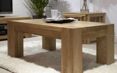 Large Oak Coffee Tables