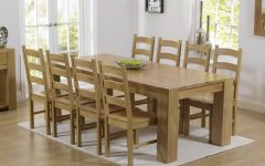 Solid Oak Dining Tables And 6 Chairs