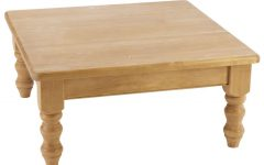 Square Pine Coffee Tables