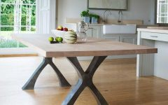 Dining Tables With Metal Legs Wood Top