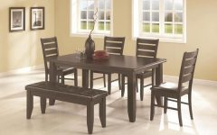 Caden 6 Piece Dining Sets with Upholstered Side Chair