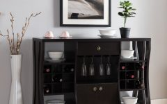 Modern Cappuccino Open Storage Dining Buffets