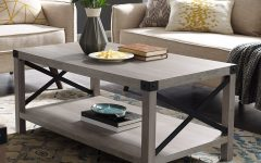The Gray Barn Kujawa Metal X Coffee Tables – 40 X 22 X 18h