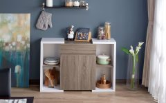 Togal Contemporary White/light Oak Dining Buffets