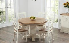 Cream And Oak Dining Tables
