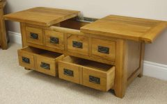 Oak Storage Coffee Tables
