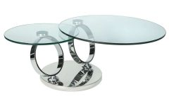 Revolving Glass Coffee Tables