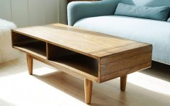 Solid Hardwood Rectangle Mid Century Modern Coffee Tables