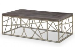 Tribeca Contemporary Distressed Silver and Smoke Grey Coffee Tables