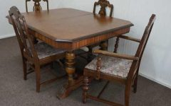 Mahogany Dining Tables And 4 Chairs