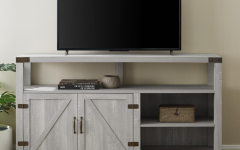 Walker Edison Farmhouse Tv Stands with Storage Cabinet Doors and Shelves