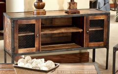 Reclaimed Wood And Metal Tv Stands