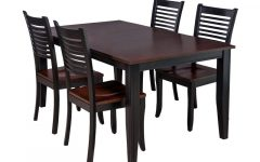 Adan 5 Piece Solid Wood Dining Sets (set of 5)
