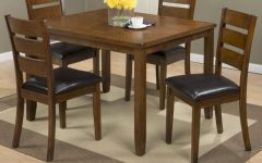 Amir 5 Piece Solid Wood Dining Sets (set of 5)