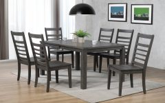 Norwood 7 Piece Rectangular Extension Dining Sets With Bench, Host & Side Chairs