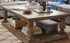 Edmaire Rustic Pine Baluster Coffee Tables