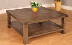 Dark Wood Square Coffee Tables