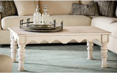 Magnolia Home Scallop Antique White Cocktail Tables