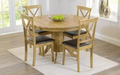Round Oak Extendable Dining Tables And Chairs