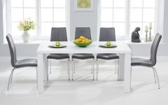 White Gloss Dining Room Tables