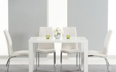 White Gloss Dining Tables 120Cm