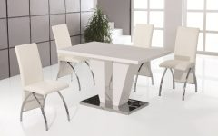 White High Gloss Dining Tables And Chairs
