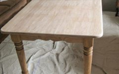 Handmade Whitewashed Stripped Wood Tables