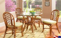 Wicker And Glass Dining Tables
