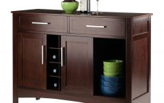 Solid And Composite Wood Buffets In Cappuccino Finish