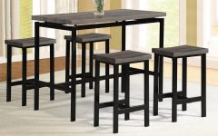 Denzel 5 Piece Counter Height Breakfast Nook Dining Sets