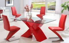 Red Gloss Dining Tables